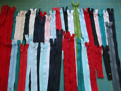 Joblot / bundle 42 Assorted ZIPS  nylon Assorted sizes and colours