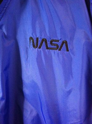 Vtg NASA Rawlings Blue Pullover Small Water Wind Resistant Breathable Nylon
