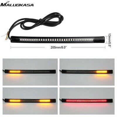 Motorcycle Brake Light 48LED Flexible Wire Cable With Lamp Signal Turn Stop Tail