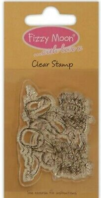 DOVECRAFT FIZZY MOON SMALL CLEAR CLING STAMPS MOON FZCS013