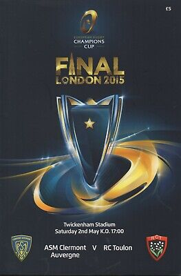 2015 ASM CLERMONT v  RC TOULON  (CHAMPIONS CUP FINAL 12/5/15)