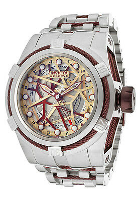 Invicta 12945 Reserve Bolt Zeus Men's Swiss Made Automatic GMT Watch NEW