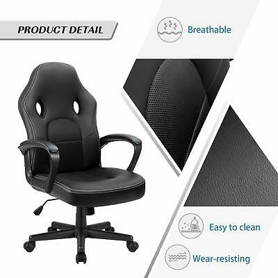 High Back Leather Office Gaming Chair heavy duty Ergonomic computer desk Swivel