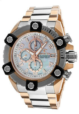 Invicta Reserve 13765 Arsenal Men's Swiss Made Chrono Automatic Watch NEW