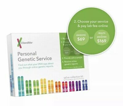 23andMe Personal Genetic DNA Saliva Kit For Ancestry.