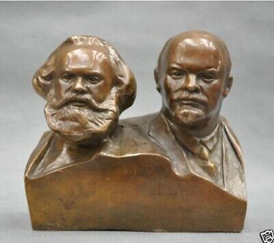 Great Communist Marx And Lenin Bust Bronze Statue Decoration