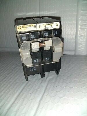 Crouse Hinds EP QUAD 4 pole 20//20 120//240v EP420 Circuit Breaker FLAW