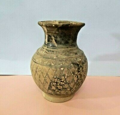 Antique historic Mexican PreColumbian Neolithic Earth tone pottery vase