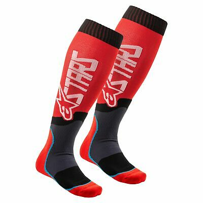 Alpinestars Mx Plus-2 Mens Underwear Boot Socks - Red White All Sizes