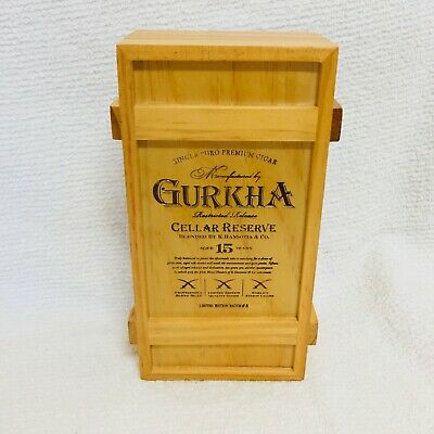Gurkha Restricted Release Solara Cigar Box Empty, Hand Stamped & Engraved