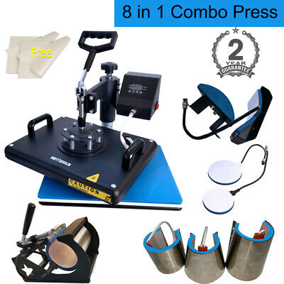 8 in 1 Heat Press Machine Digital Transfer Sublimation for T-shirt Mug Plate Hat
