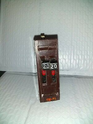 1 WADSWORTH B1515NI TWIN CIRCUIT BREAKER 15A 15 AMP 240V  METAL CLIPS 17 AVAIL