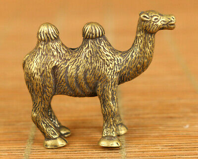 unique Asian old bronze hand carving camel statue Hand pieces table decorate