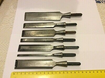 Lot Of 7 Wood Chisels With No Handle