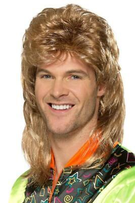 Mullet Wig Brown with Blonde Highlights Pk 1