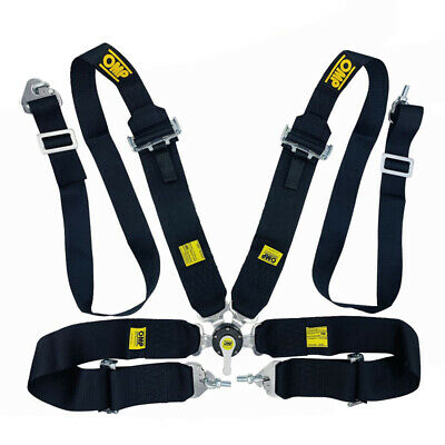 OMP Black Harness 4 points Seatbelt Rally Racing Standard FIA Approved