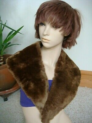 Vintage Faux Fur Large Shawl Collar for Coat