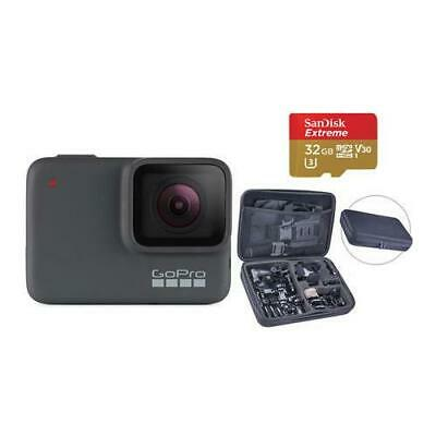 GoPro HERO7 Silver - Bundle with Froggi Extreme Sport Kit, and 32GB Memory Card