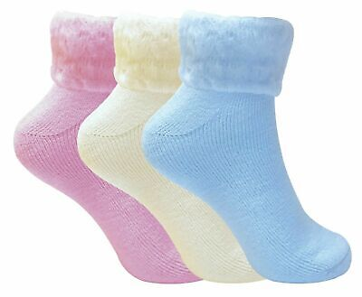 6 Pairs Ladies Thick Warm Cute Fluffy Fleece Cosy Ankle Thermal Lounge Bed Socks