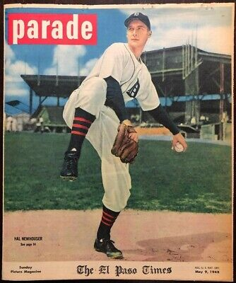 1948 Parade mag. - HAL NEWHOUSER cover (pitcher)