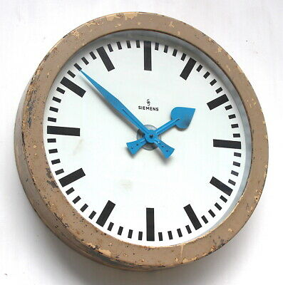 Huge SIEMENS W German 50s Midcentury Factory Retro Vintage Industrial Wall Clock