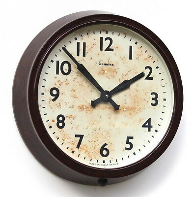 ENGLISH 1960s Bakelite Vintage Retro Industrial Wall Clock. Smiths / Genalex