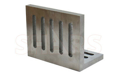 """Ground .0005"""" Open End Slotted Angle Plate 12 x 9 x 8 High Tensile Cast Iron New"""