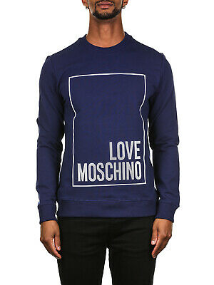 LOVE MOSCHINO UOMO FELPA GIRO REGULAR LOGO 19725 34733