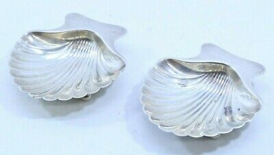 TIFFANY & CO Sterling Silver Clam Shell Dishes 22479 (Pair) #105 - Free Shipping