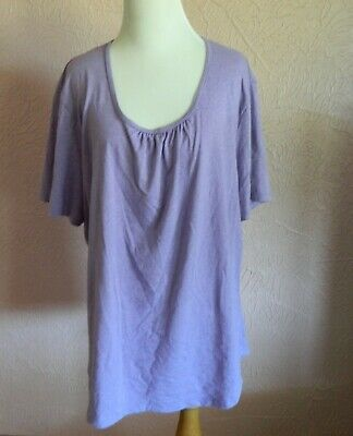 Hanes Just My Size Womens Pull Over Top 2X Short Sleeve Purple Shirt