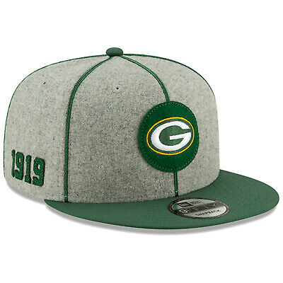 2019 Green Bay Packers New Era 9FIFTY NFL Home Sideline Snapback Hat Cap 1920s