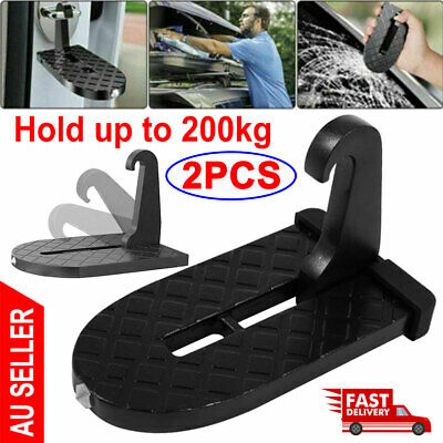2PCS Folding Car Door Hook Step Foot Pedal Ladder Latch Hooks For Jeep SUV Roof