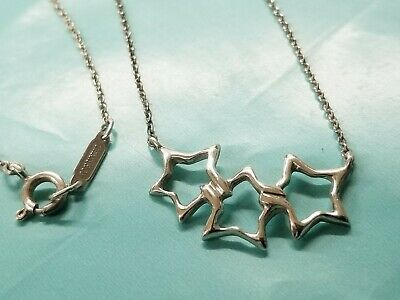 © Tiffany & Co. TRIPLE STAR Sterling Silver Necklace 925 /A1