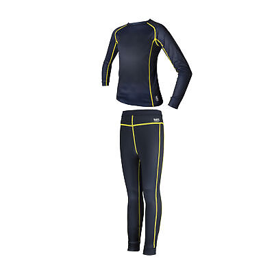 Barts Thermal Leggings And Girls Base Layer Top - Navy All Sizes