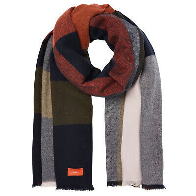 Joules Berkley Womens Accessory Scarf - Navy Check One Size