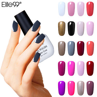Elite99 Esmalte Semipermanente Brillante de Uñas en Gel UV LED Manicura 8ml