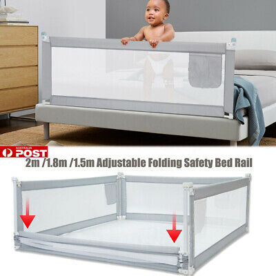 2M Adjustable Folding Kids Safety Bed Rail/BedRail Cot Guard Protecte Toddler AU