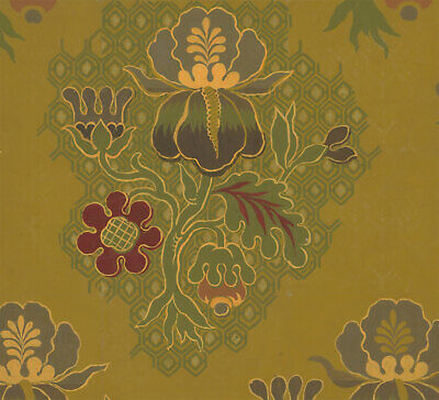 Early 20th Century Gouache - Floral Wallpaper Design