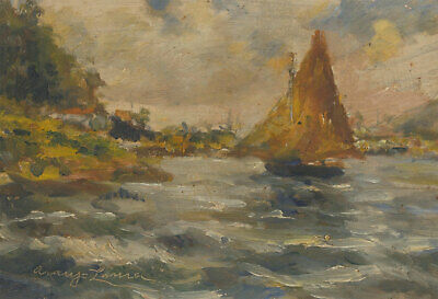Early 20th Century Oil - Impressionist Coastal Scene
