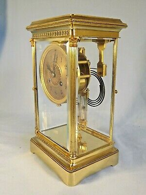 "Superb 19c French 4 Glass Clock ""Philadelphia"" USA Connection C1890."