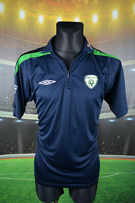 Ireland Eire Umbro Football Shirt (L) Jersey Top Trikot Camiseta Mens Navy Polo