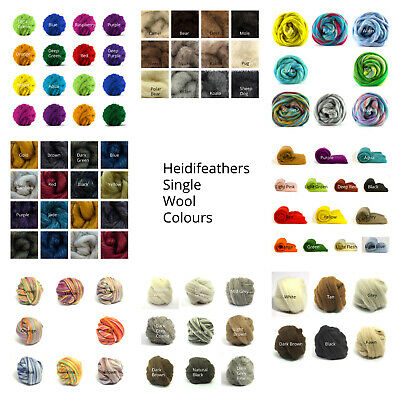 Heidifeathers® Felting Wool - Single Colours - 25g - 250g  Felting, Dredlocks
