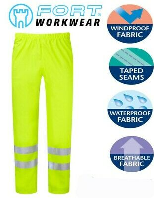 FORT Waterproof Windproof Breathable Silent Comfort Flex FORTEX Hi Vis Trousers