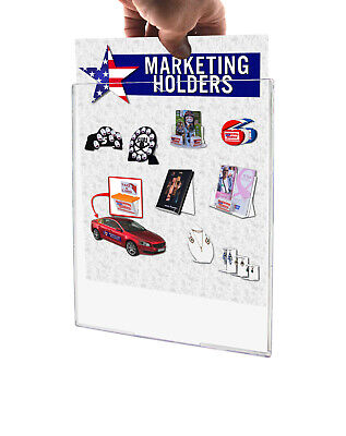 "Sign Holder TRU-Vu® Clear Display Letter Size 8.5"" x 11"" Wall Mount Load Qty 10"