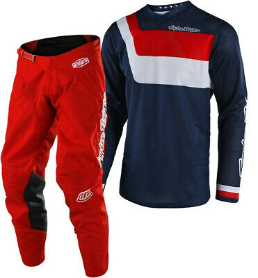 Troy Lee Designs TLD GP AIR Prisma Motocross Gear Navy Red Adults