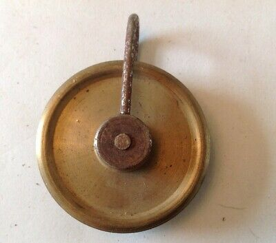 Clock Wheel Brass Pulley Vienna Style 44mm Diam. For Wire To 2mm