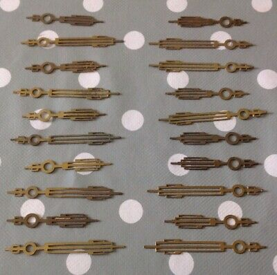 Antique Art Deco Clock Solid Brass Hands 10 NOS Pairs For £9.99 65mm And 50mm