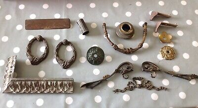 Antique Clock Cast Brass Feet Mounts Decoration Ex Clockmakers Parts Collection