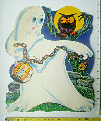 Dennison Halloween Ghost Large 16 Die Cut Out Cardboard