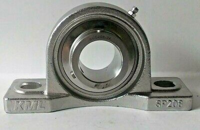 "KML PE206 UC206-18 1-1//4/"" Bore Roller Bearing  Pillow Block"